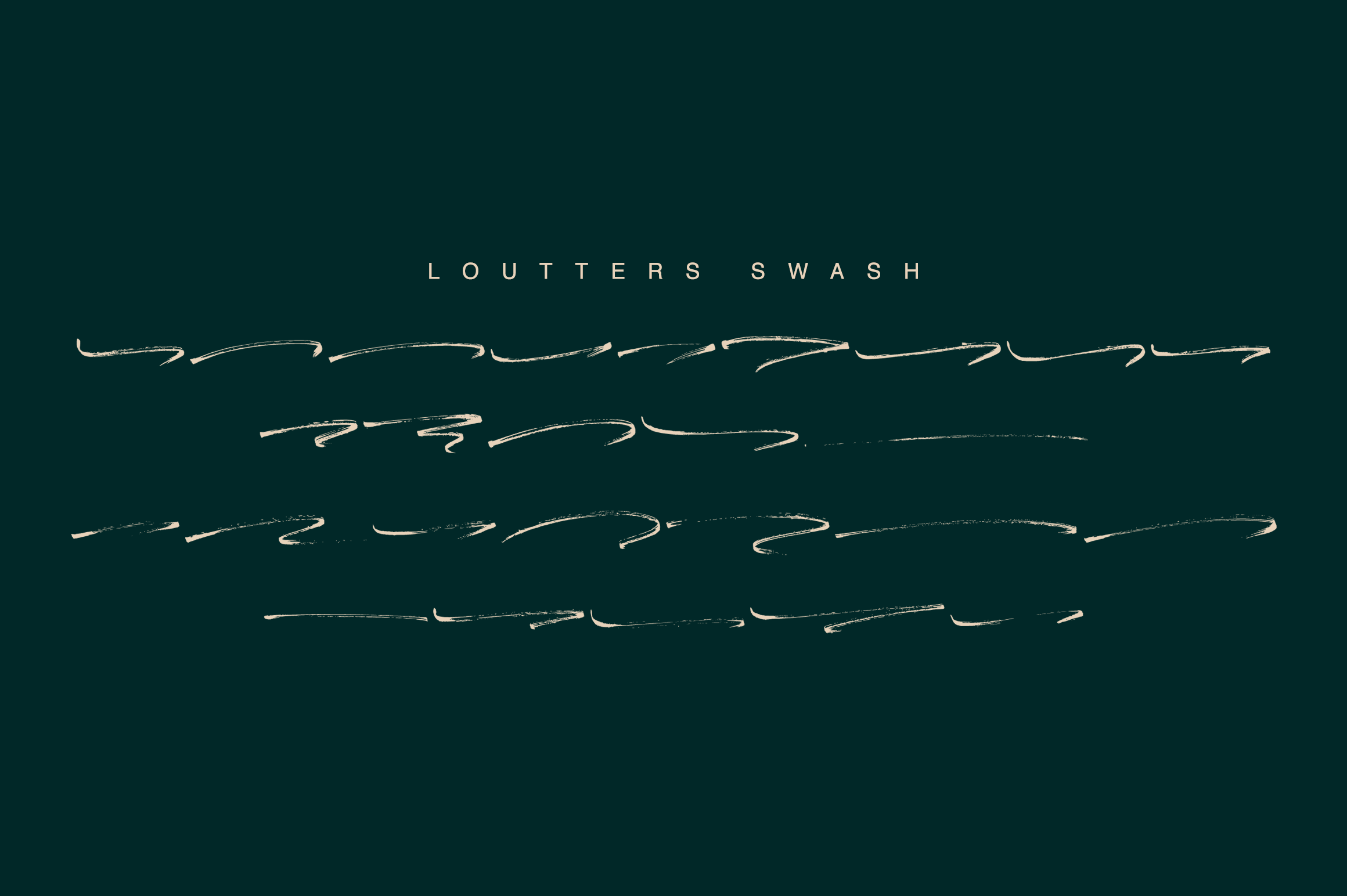 Loutters | Handwritten Brush Font example image 12