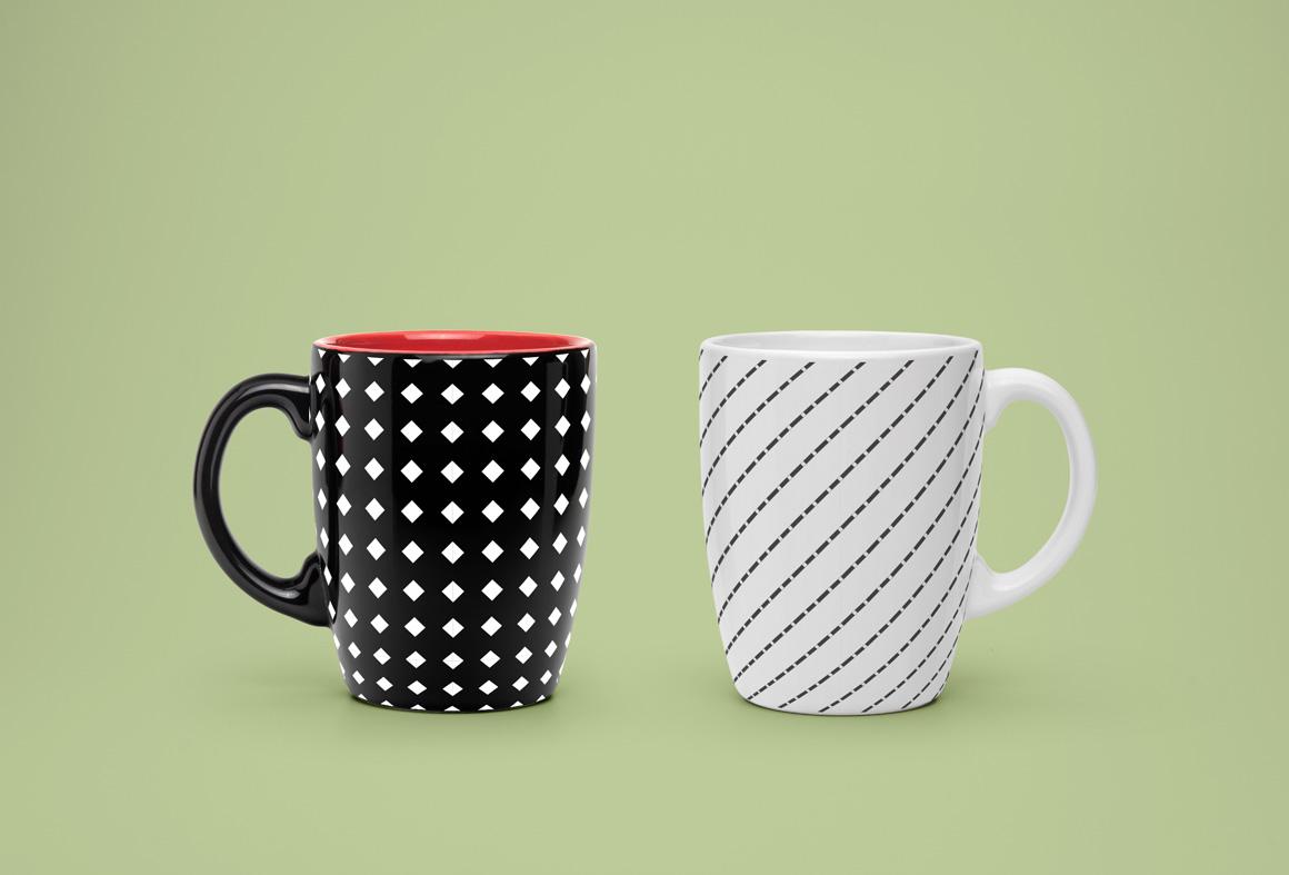 Seamless geometric patterns set. example image 2