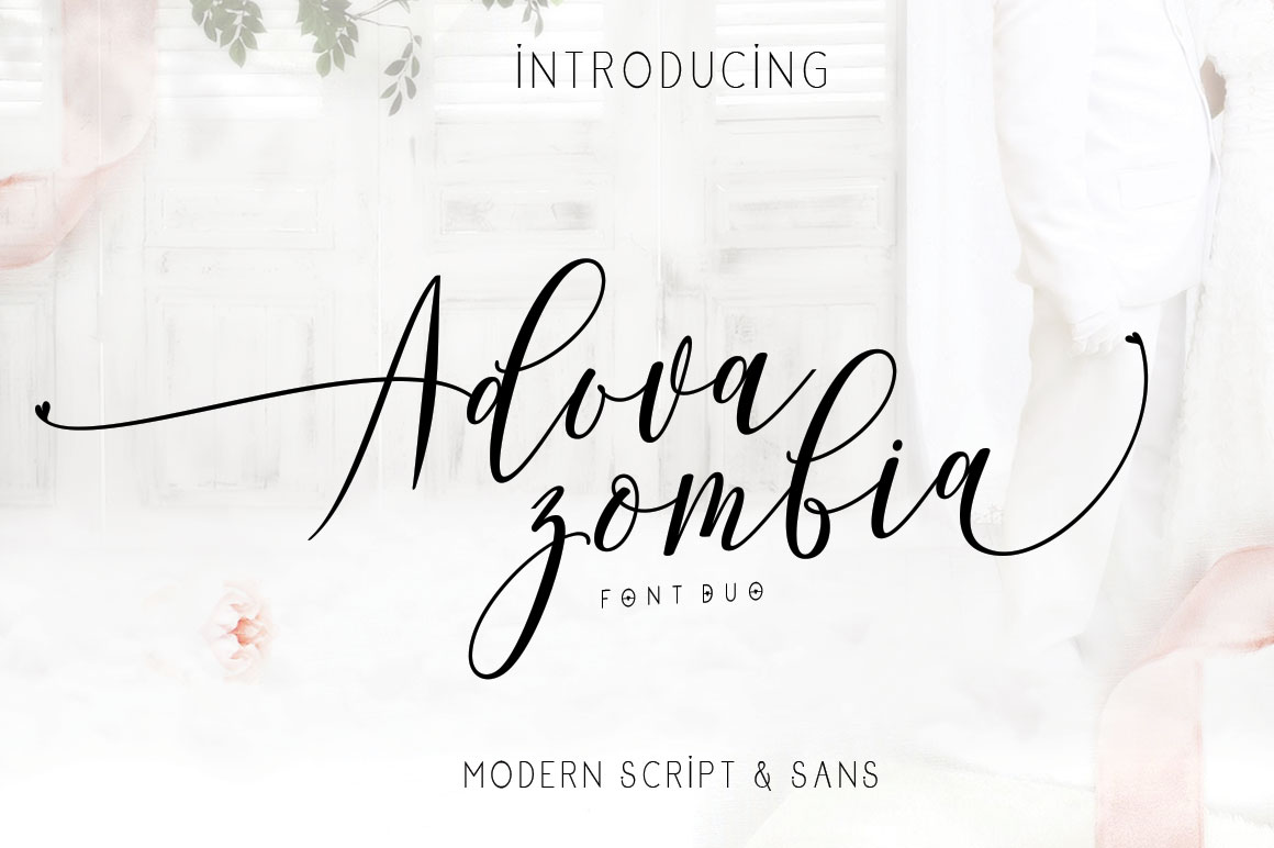 Adova zombia Font Duo example image 12