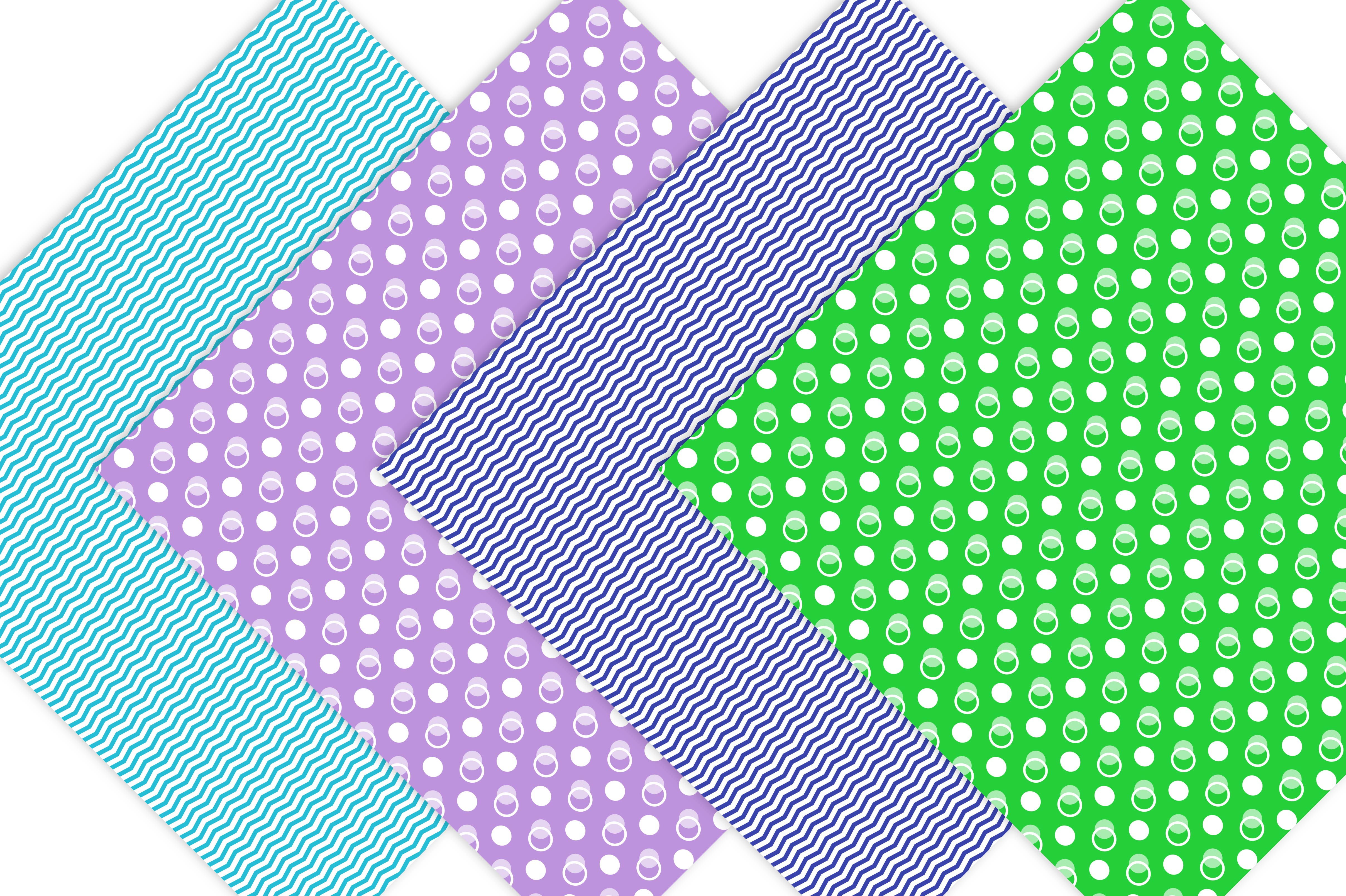 Dots and Chevron Digital Paper Pack example image 4