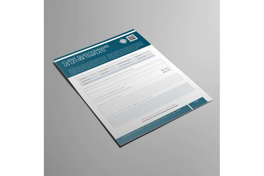 Client Questionnaire US Letter Template example image 3