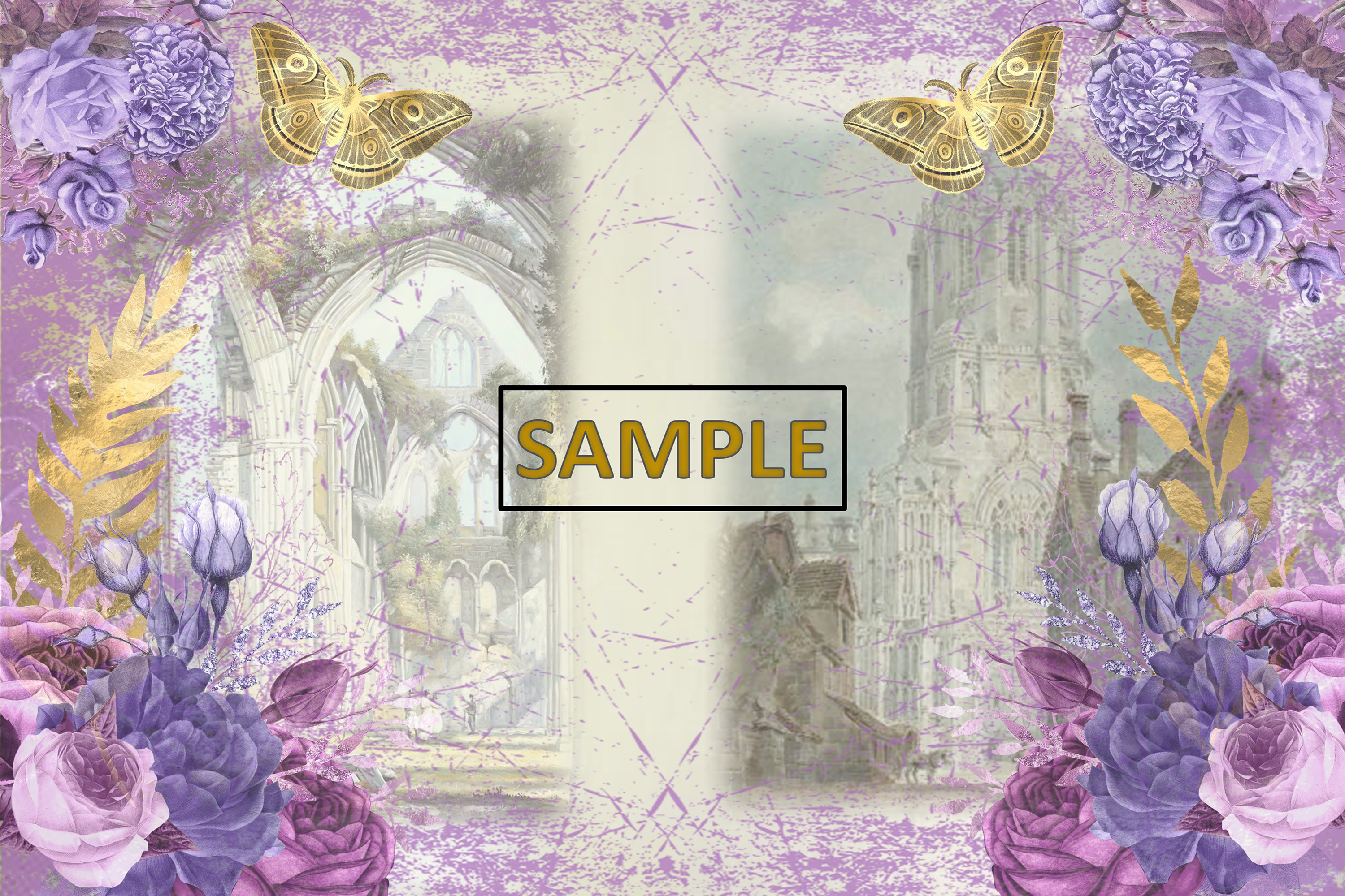 Gothic Garden Backgrounds A4 Letter Size JPEG & PDF example image 5