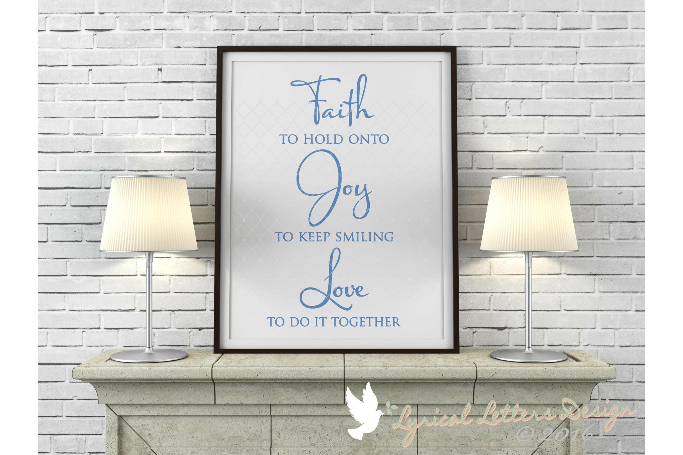 Faith Joy Love SVG DXF Cut File LL010D example image 2