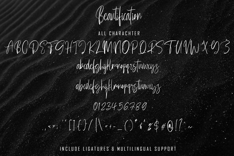 Beautification Signature Font example image 7