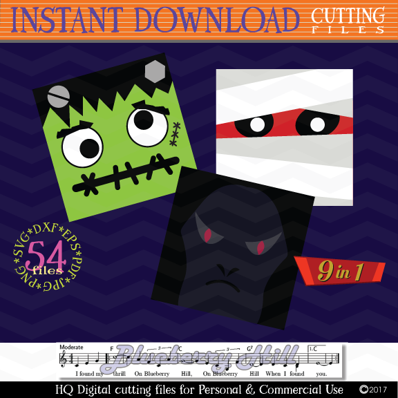 Halloween Monster Face svg - Halloween bundle Monster icons example image 4