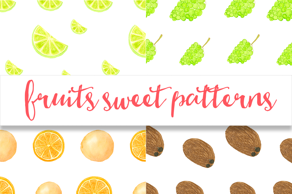 Watercolor sweet fruits example image 5