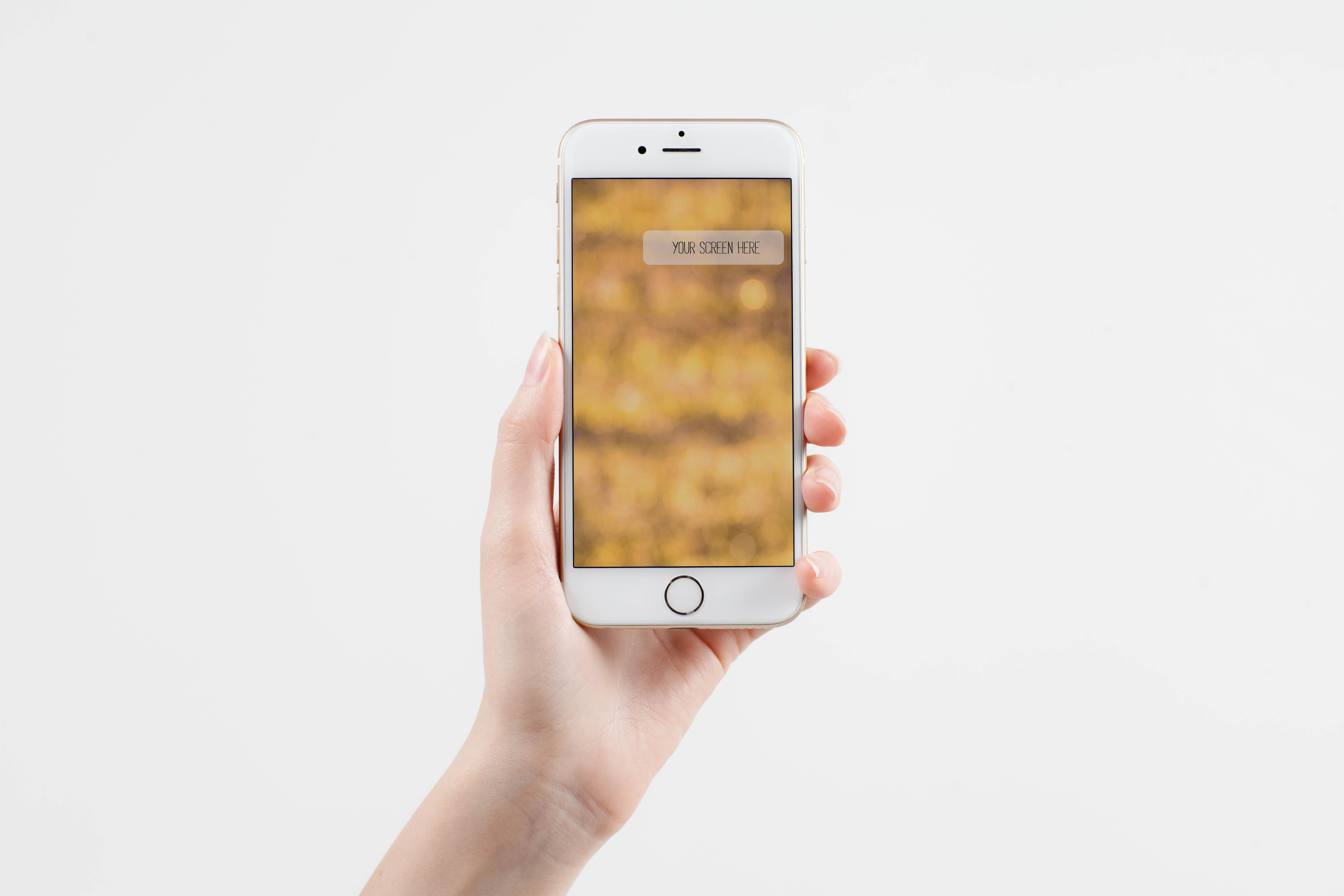 Set from 6 iPhone mockups example image 7