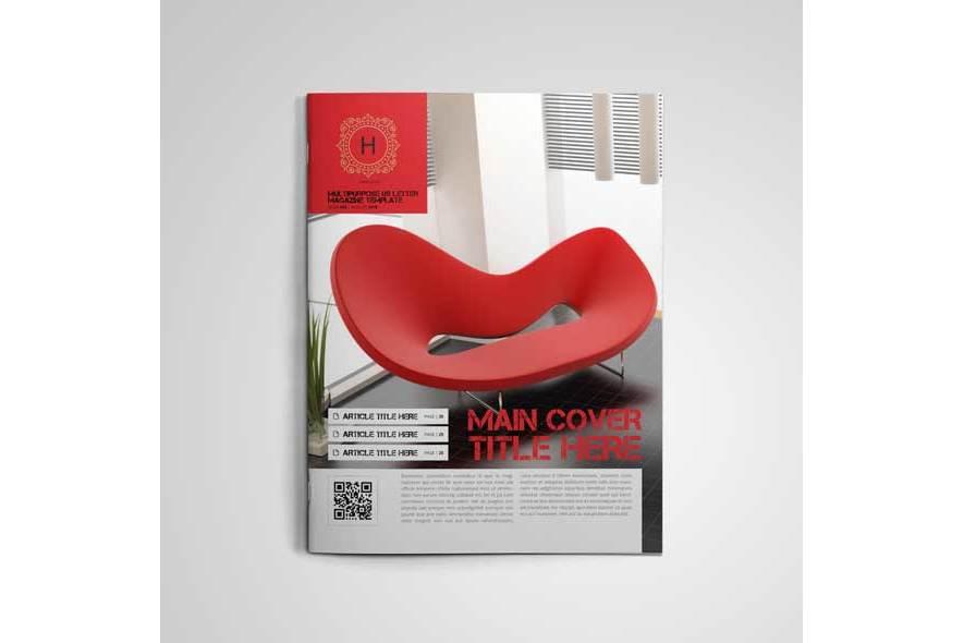 Multipurpose US Letter Magazine Template example image 5