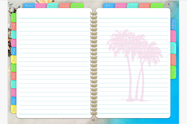 Digital Planner Beach Days example image 9