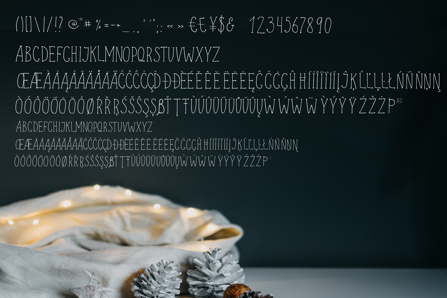 Merry Christmas display font and doodles example image 2