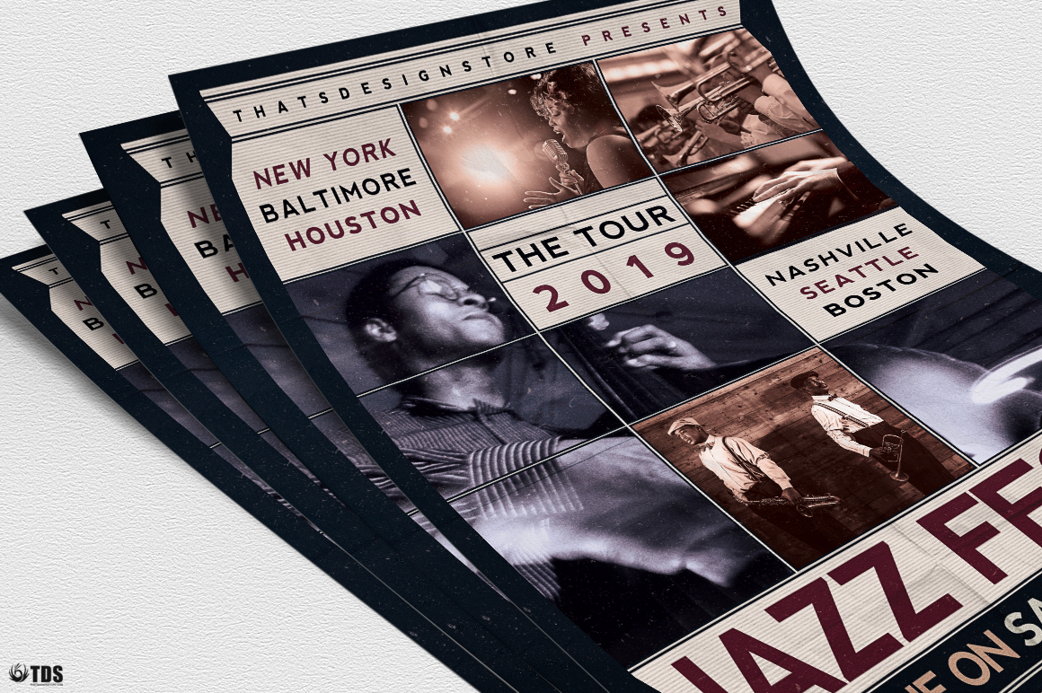 Jazz Fest Flyer Template example image 5