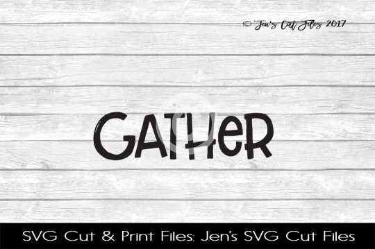 Gather SVG Cut File example image 1