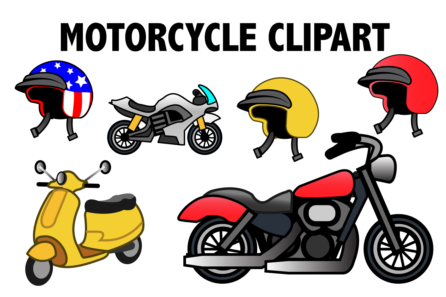 Motorcycle Clipart example image 1