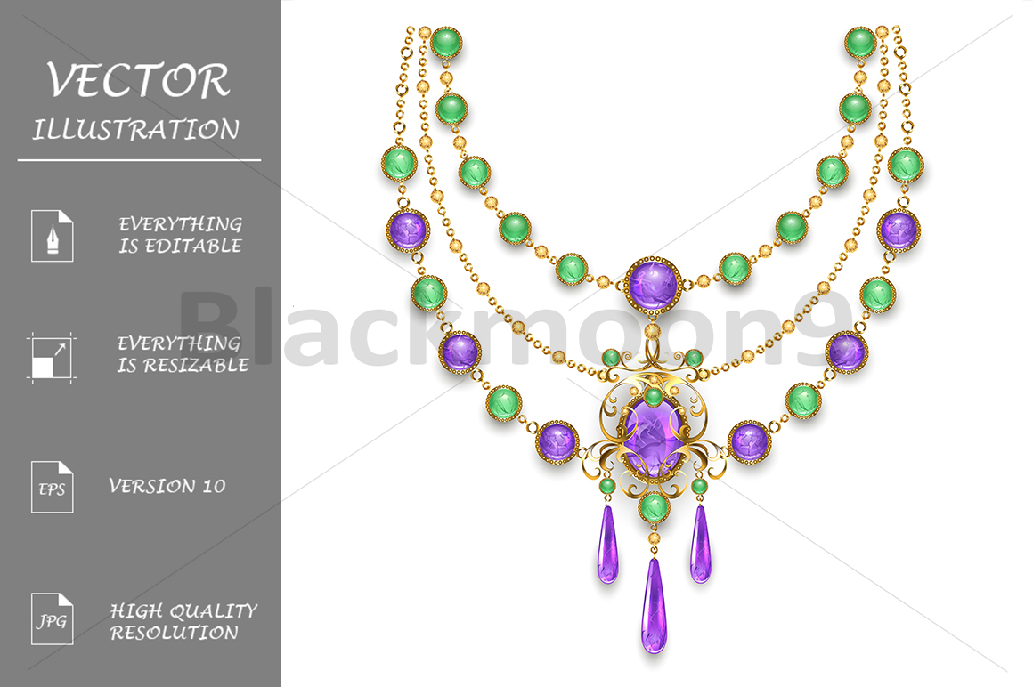 Necklace with Amethyst example image 1