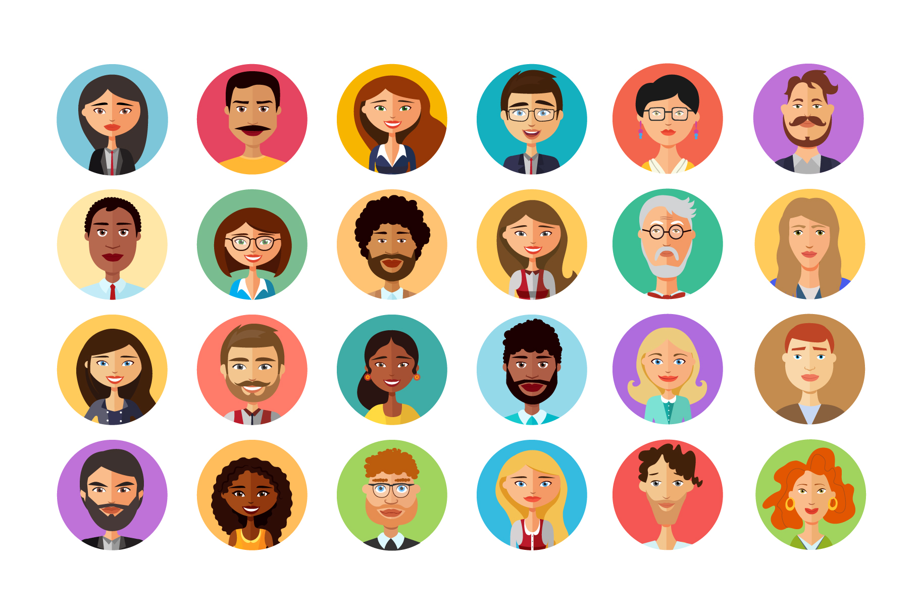 Vector avatars cartoon collection example image 2