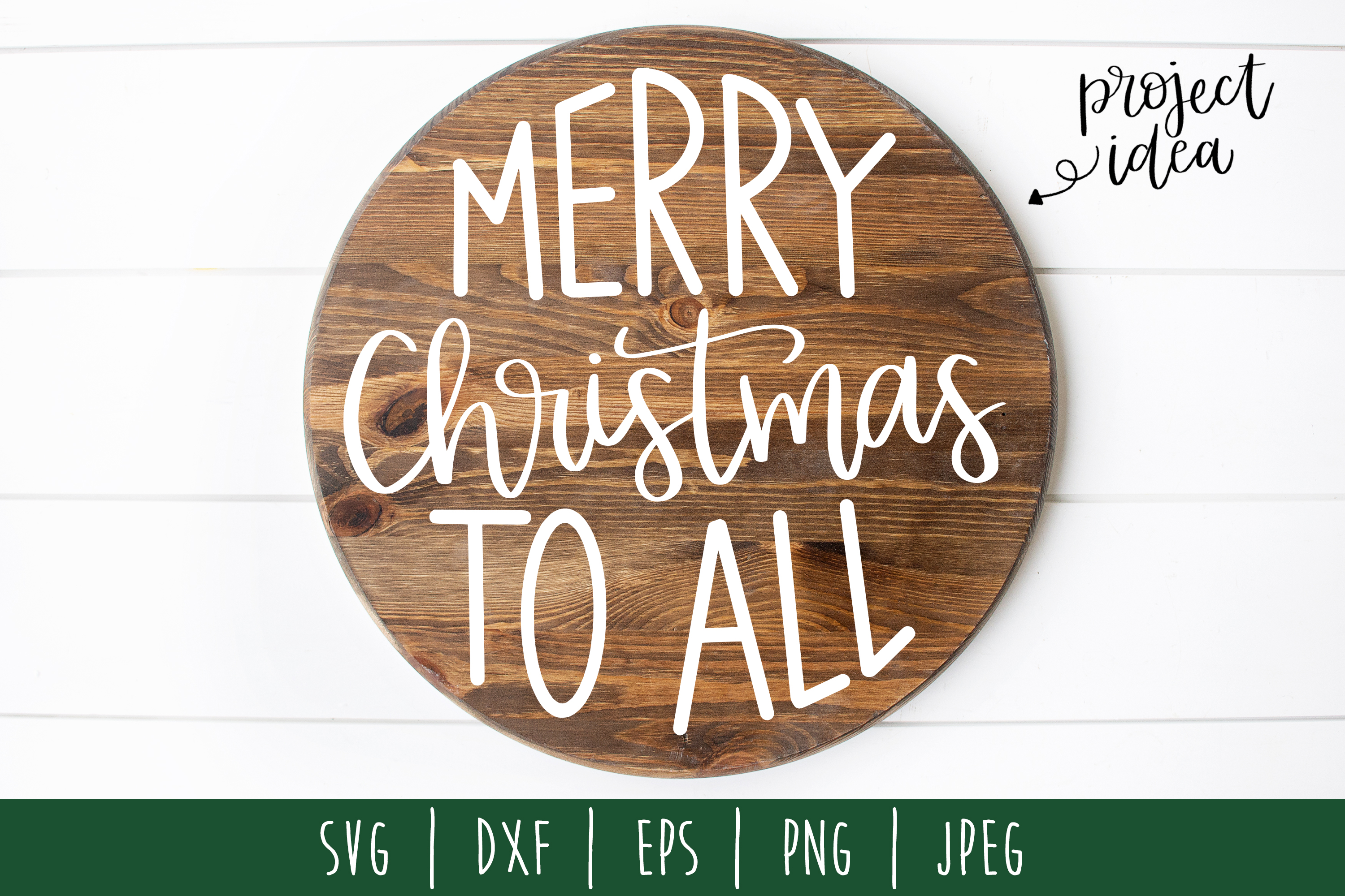 Merry Christmas To All SVG, DXF, EPS, PNG JPEG example image 1
