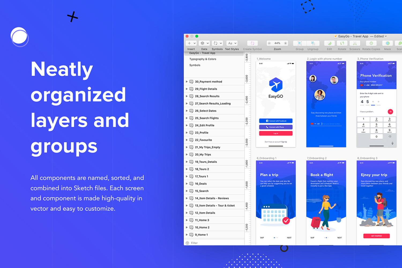 EasyGo - Travel App UI Kit example image 3