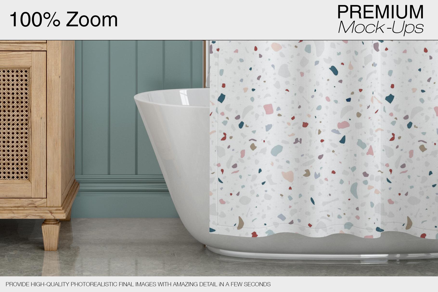 Bath Curtain Mockup Pack example image 12