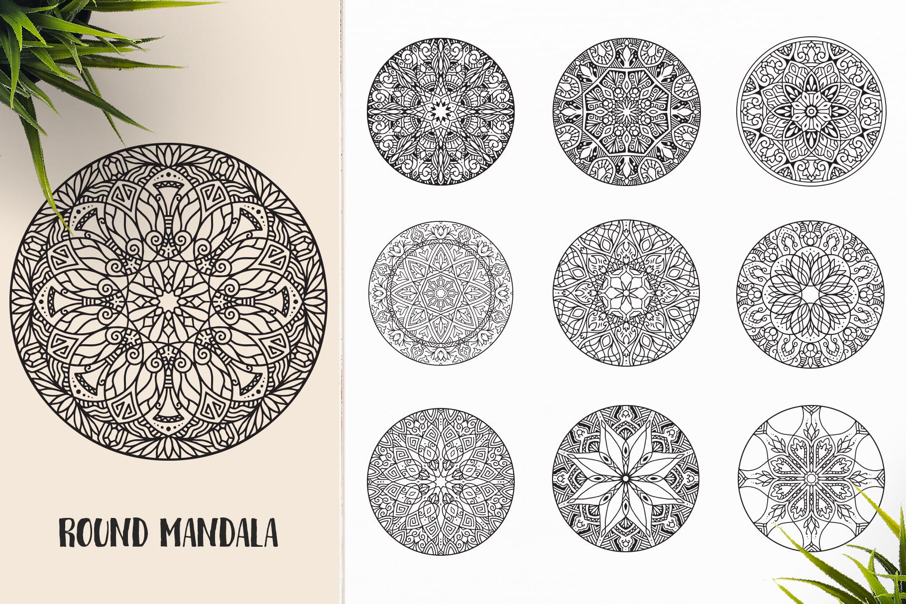 530 Vector Mandala Ornaments Bundle example image 25