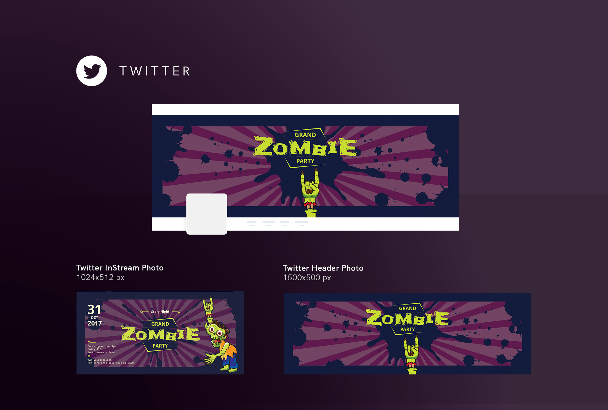 Zombie Party Design Templates Bundle example image 10