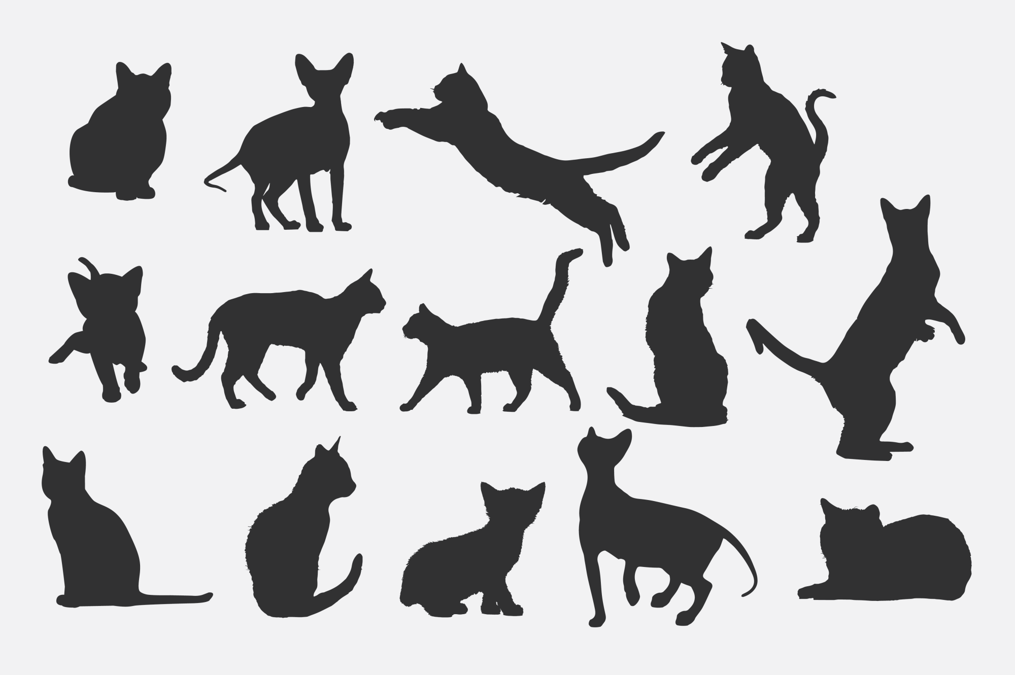 Cat Silhouettes for Crafters example image 2