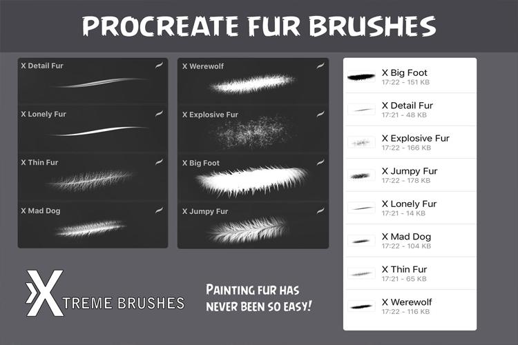 Procreate Fur Brushes example image 2