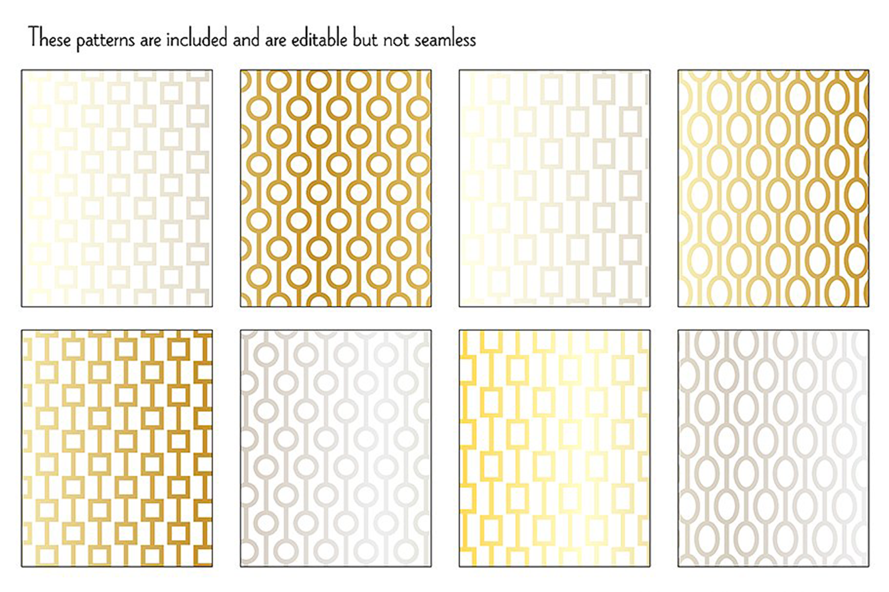 Mod Chain Patterns, Borders & Frames example image 4