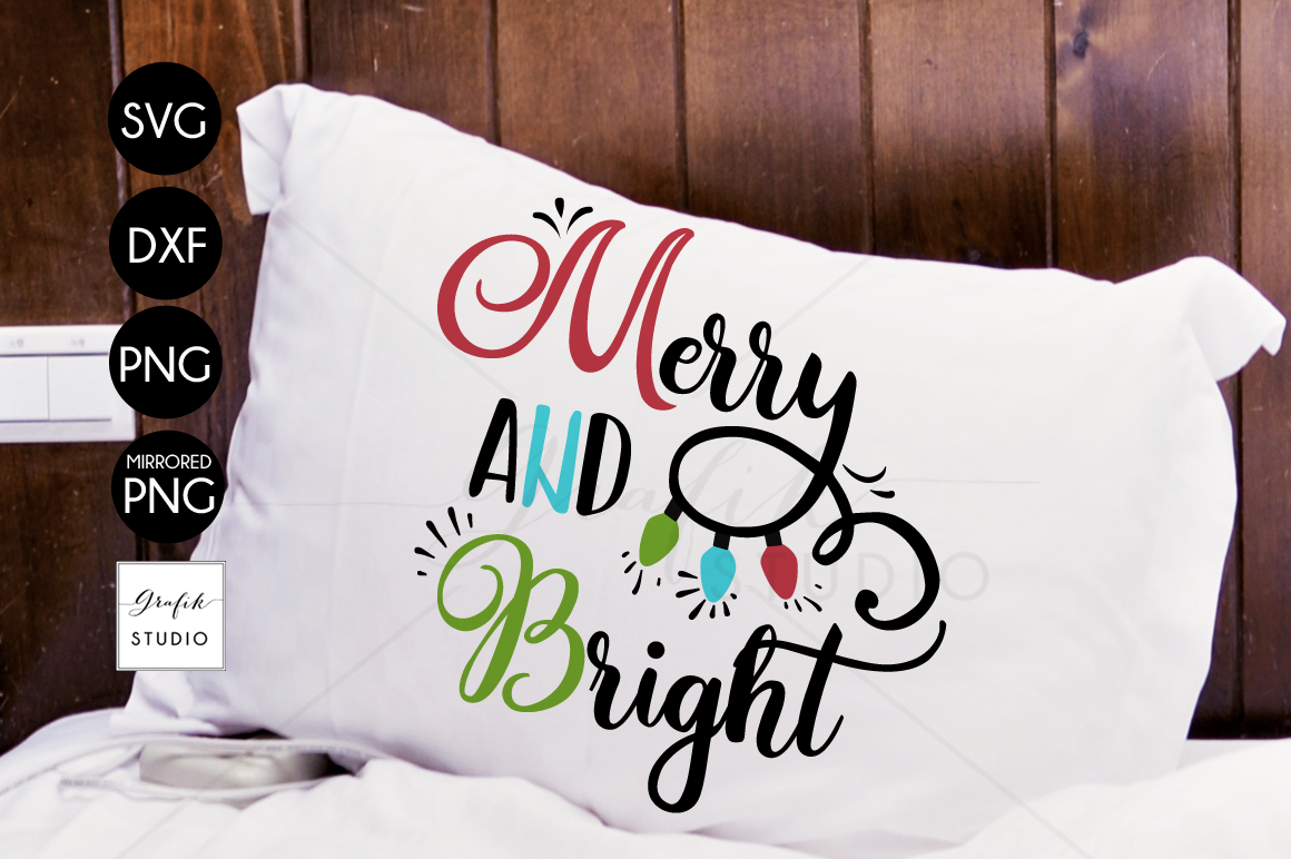 Merry & Bright CHRISTMAS SVG File Bundle example image 1