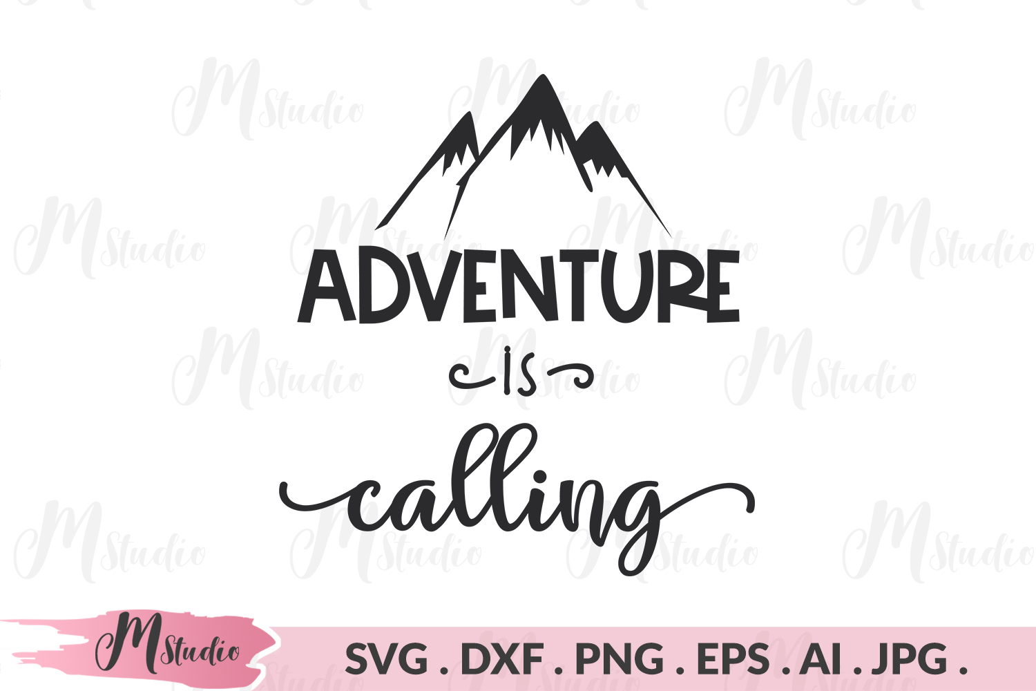 Adventure Is Calling svg. example image 1