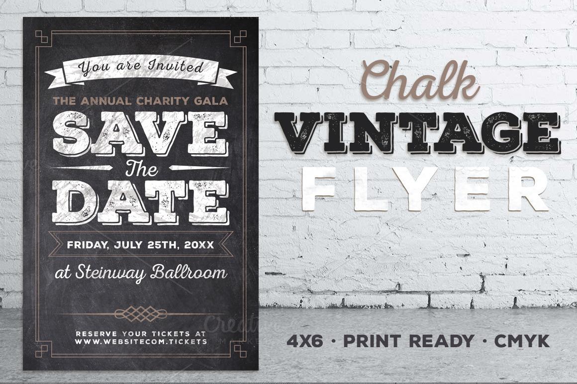 Vintage Chalk Flyer Invite example image 1