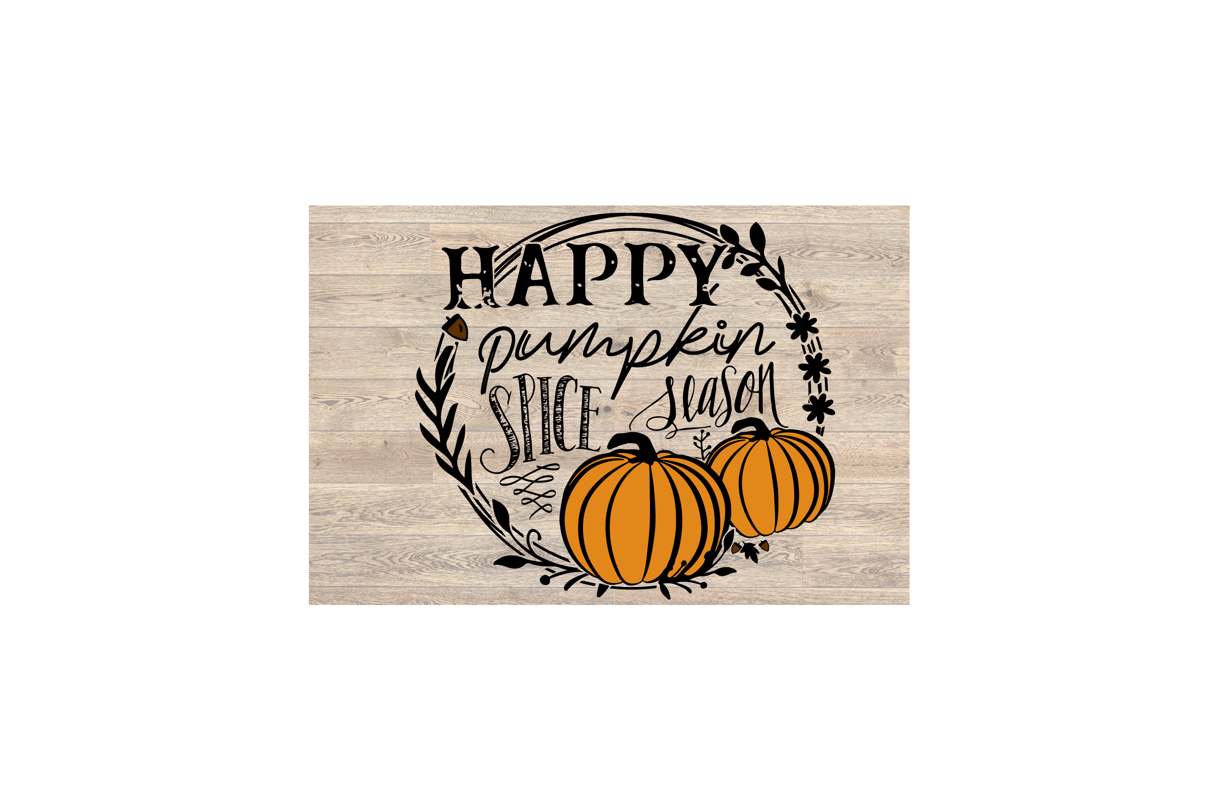 Fall svg, Happy Pumpkin Spice Season SVG Cut File example image 3