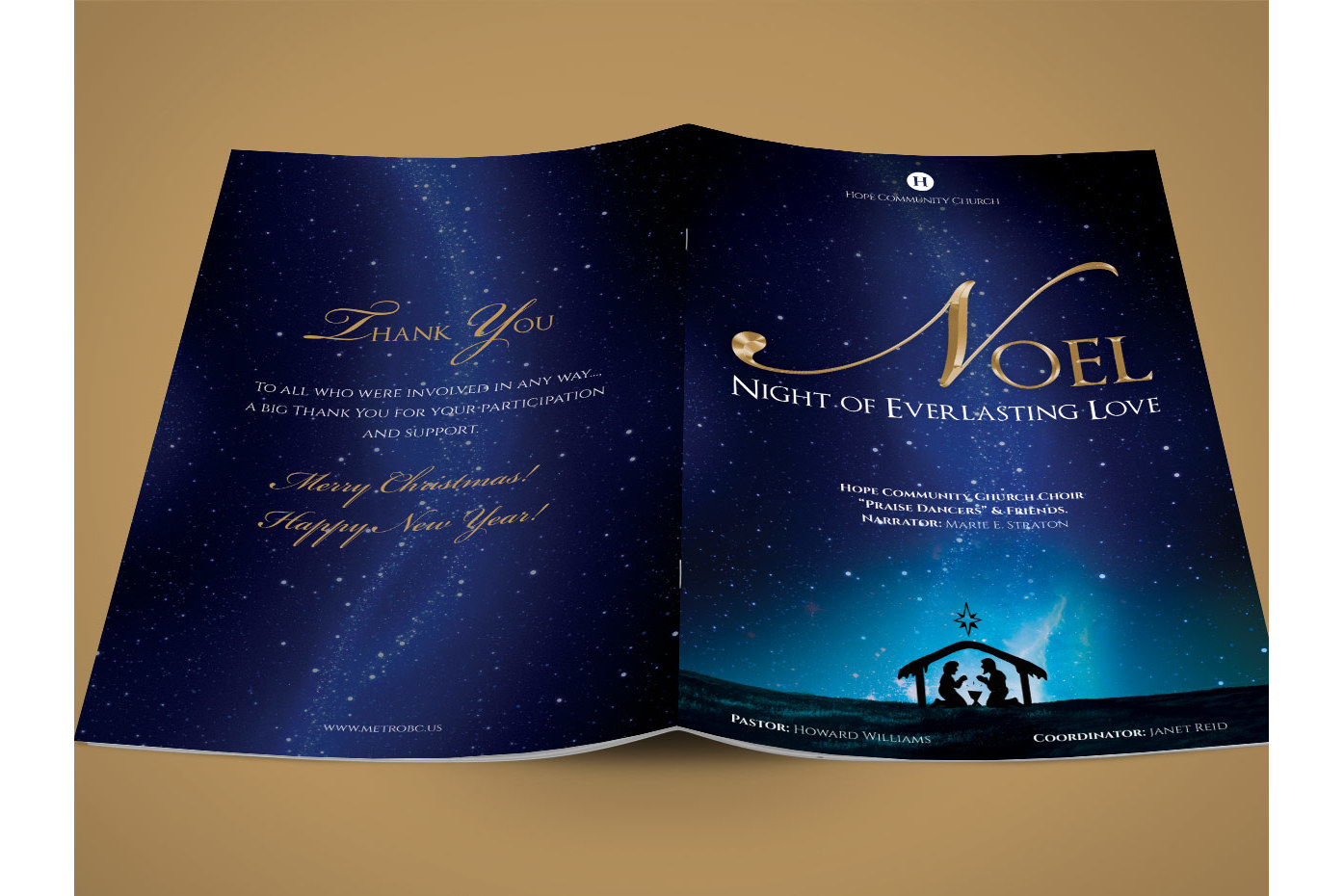 Noel Christmas Brochure Template example image 3