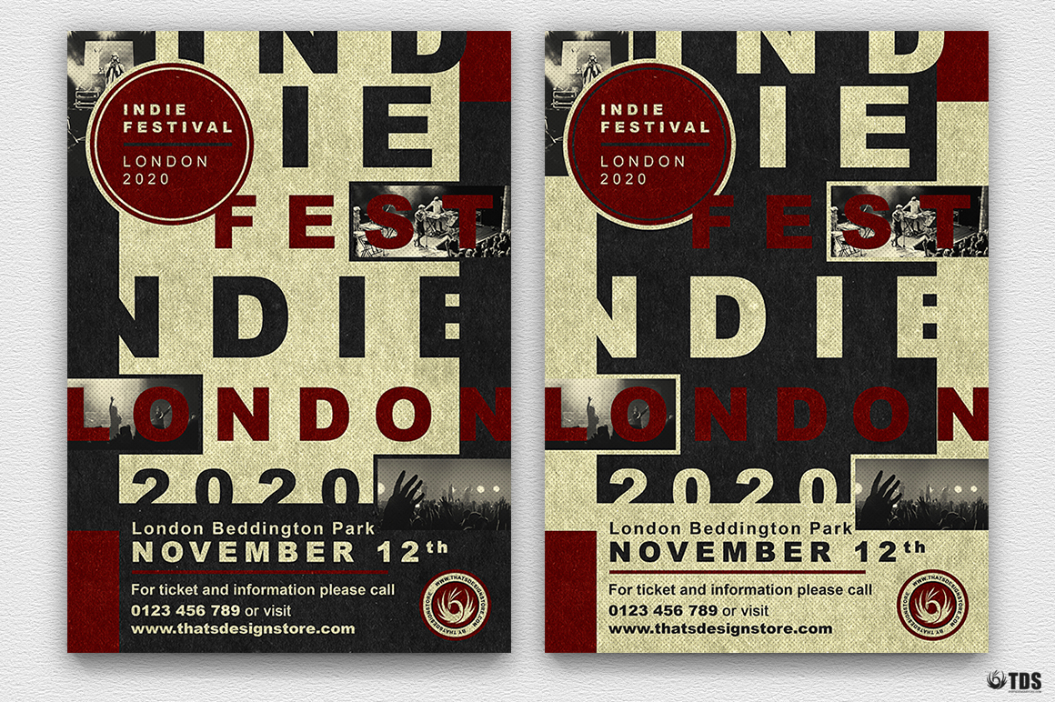 Indie Live Festival Flyer Template V3 example image 2