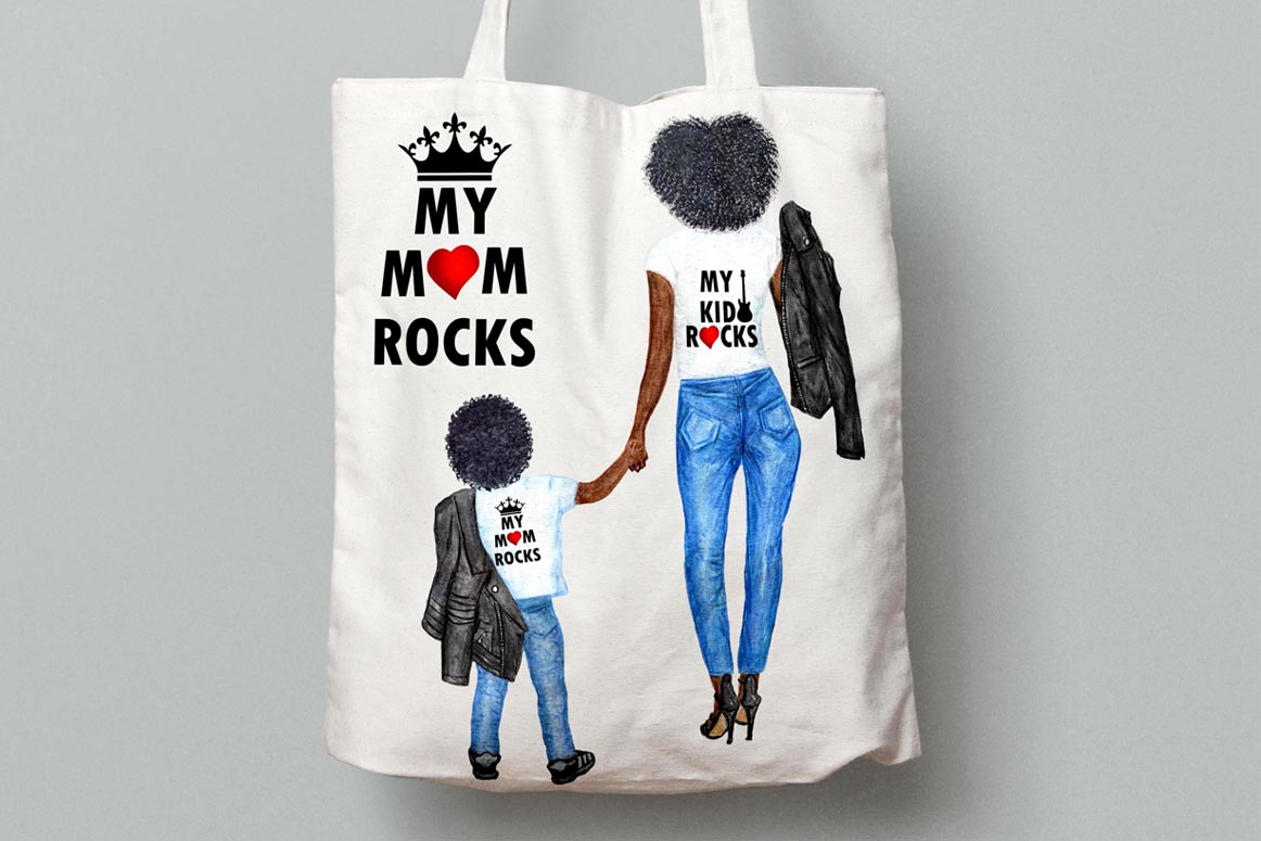 Mother and child clipart,MOTHER'S DAY CLIPART, Fashion Png example image 4