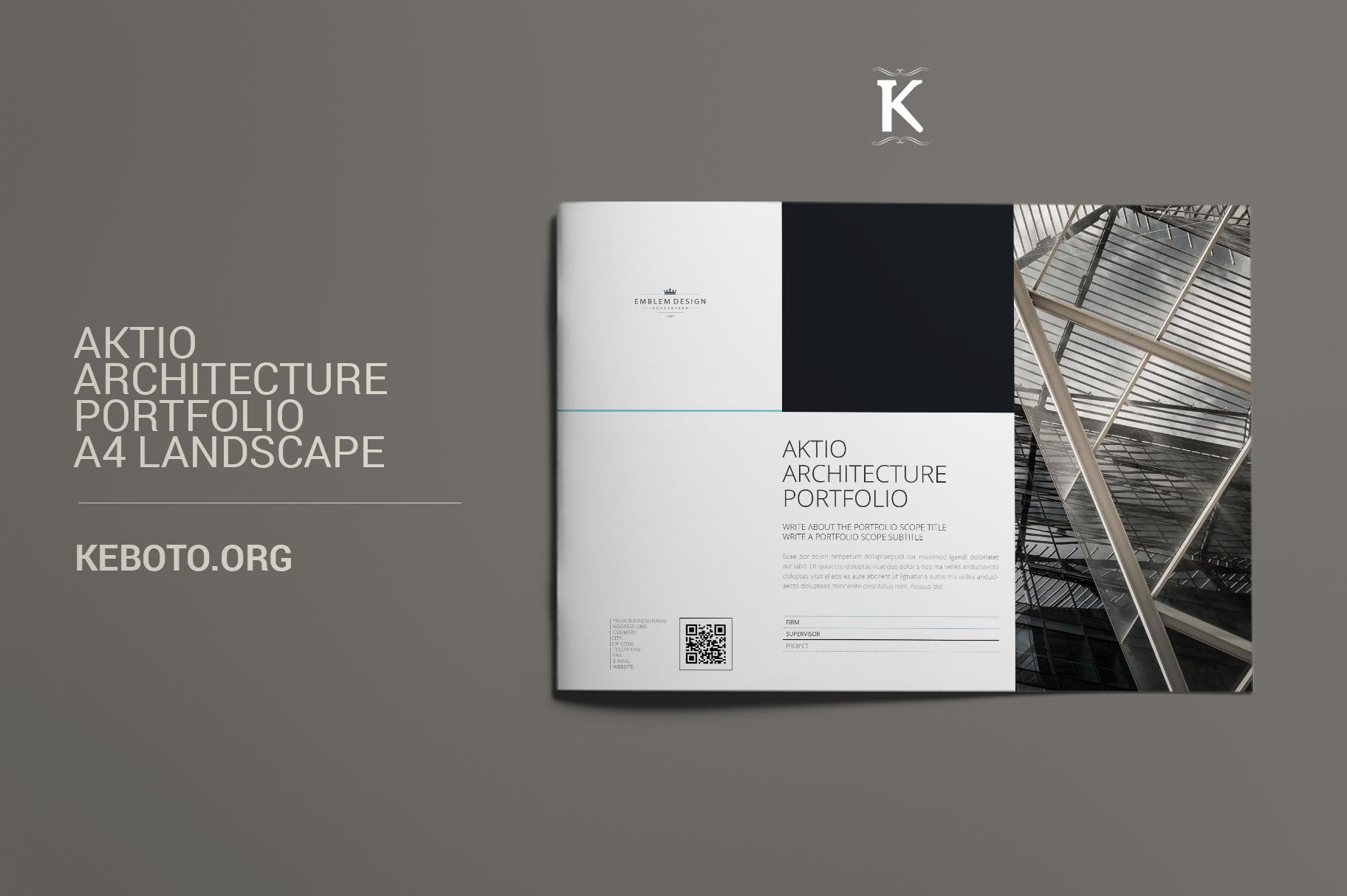 Aktio Architecture Portfolio A4 Landscape example image 1