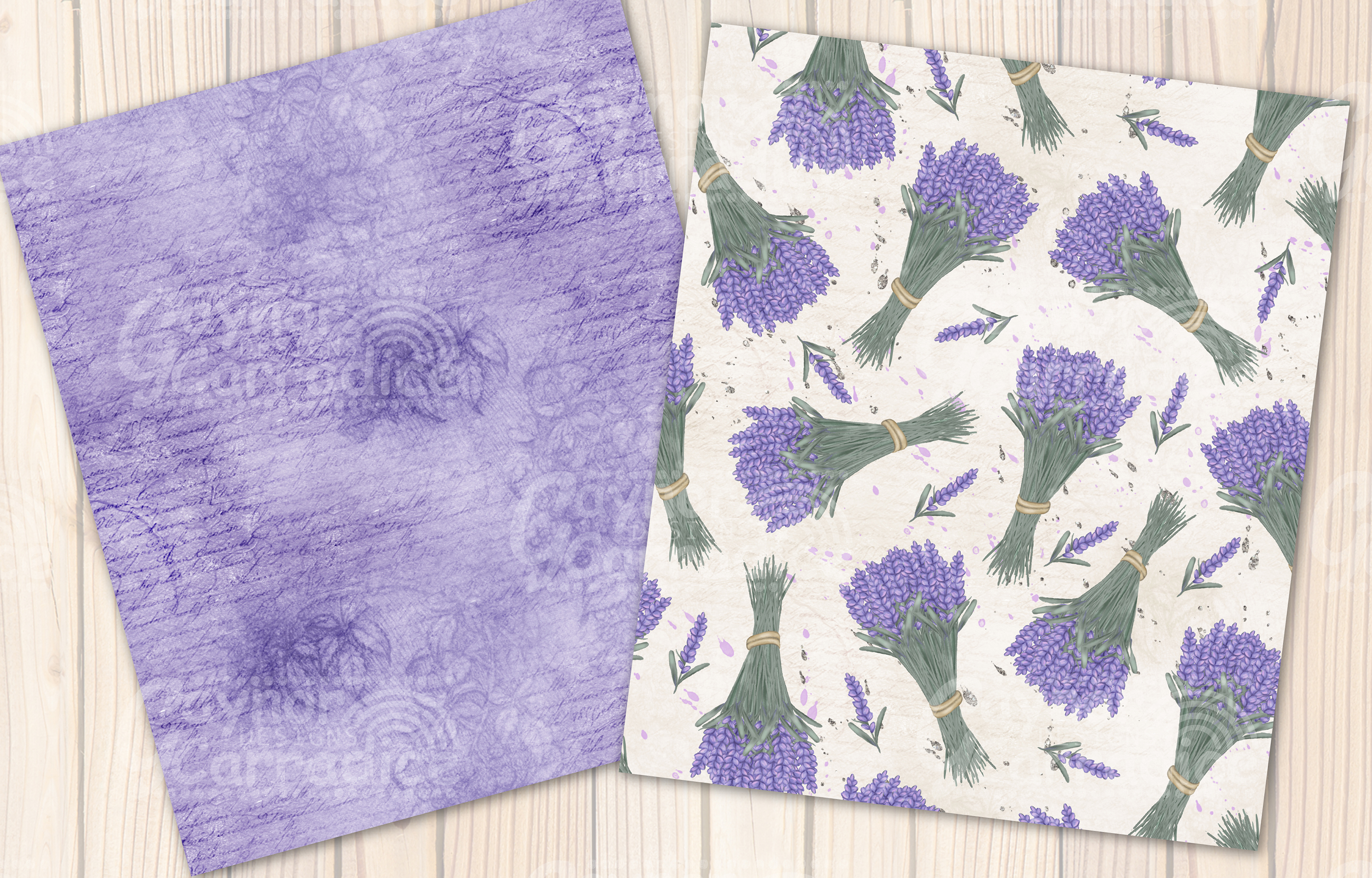 Provence - lavender Seamless Pattern collection example image 6