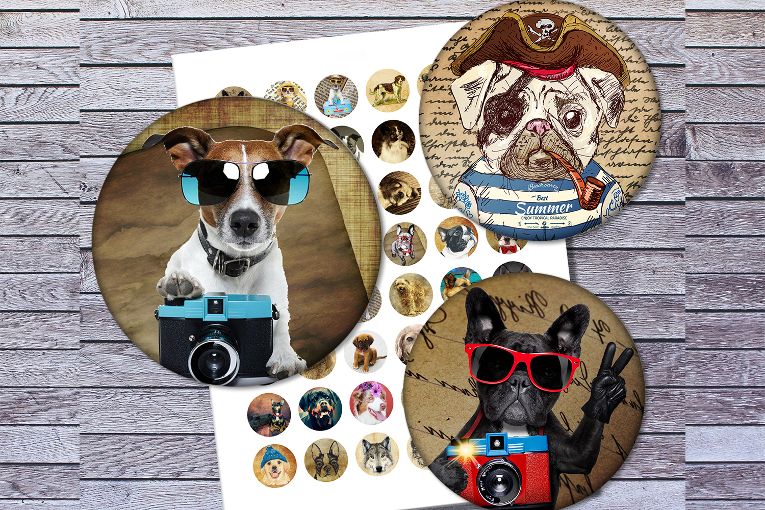 Vintage Dogs, Dogs Images, Digital Collage Sheet, Printables example image 4