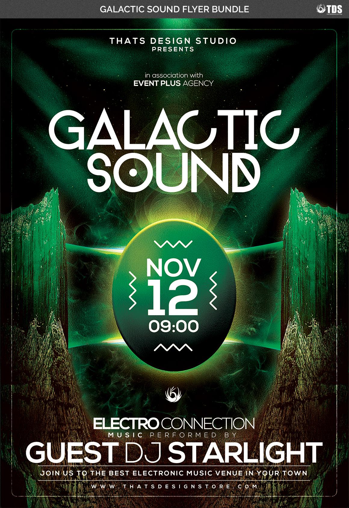 Galactic Sound Flyer Bundle example image 6