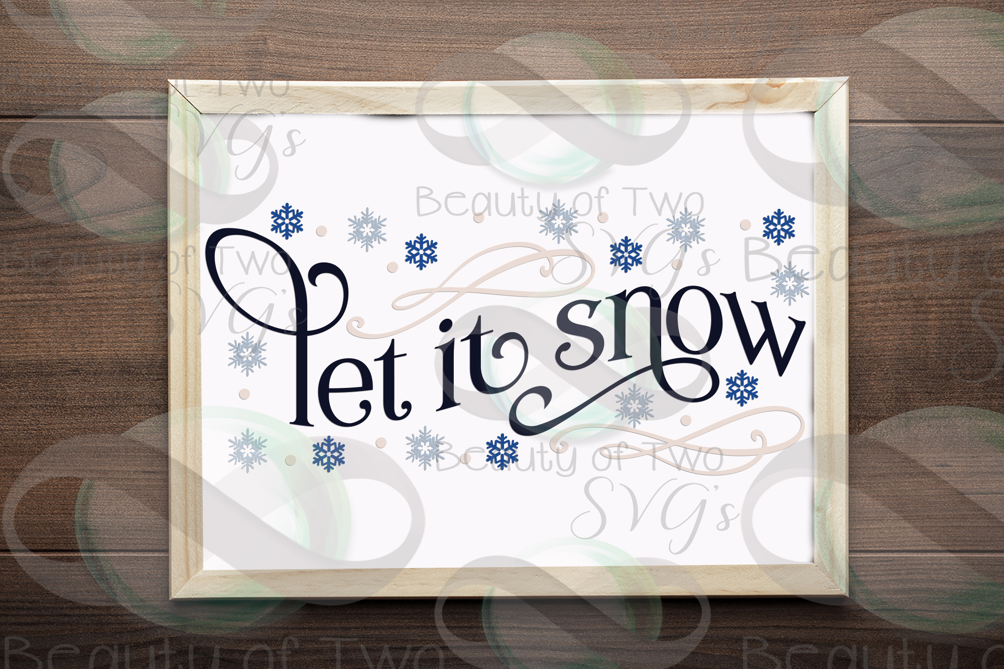 Let it Snow Snowflakes svg, Winter svg sign, snowflake svg example image 2