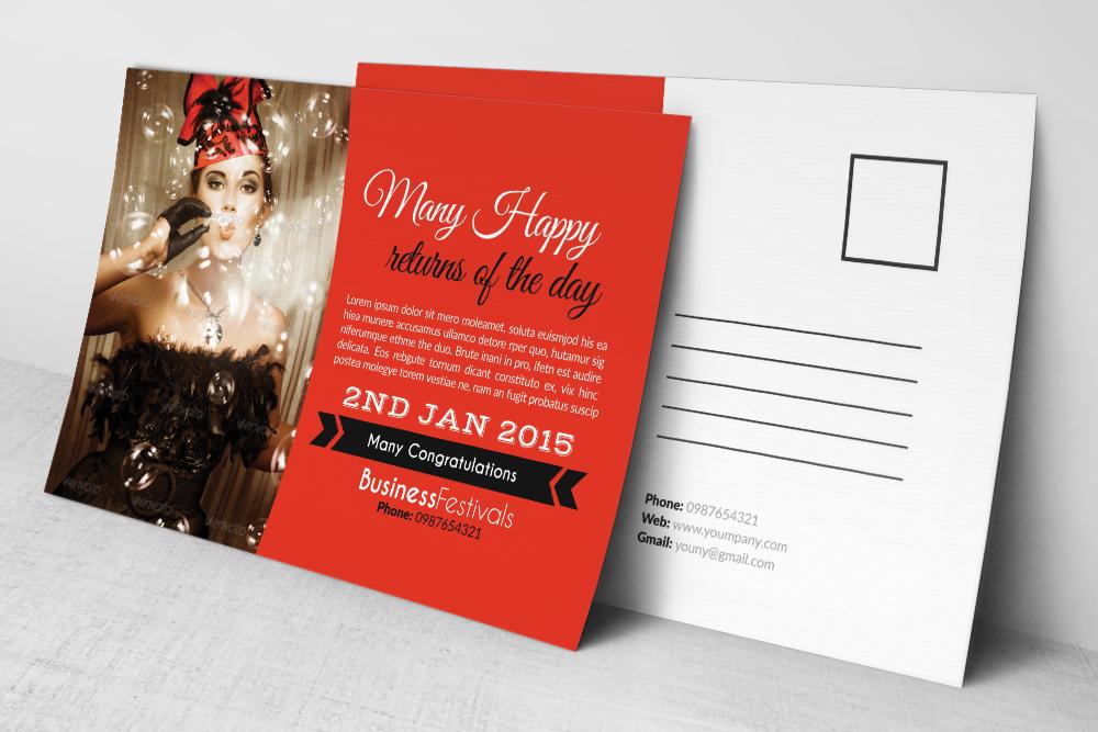 Birthday Invitation Postcard example image 3