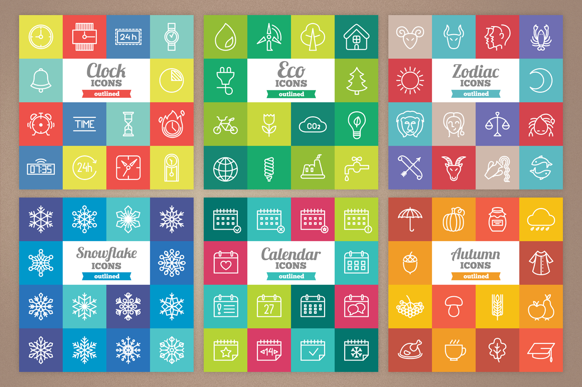 83 Off - Outlined Icons Big Bundle example image 8