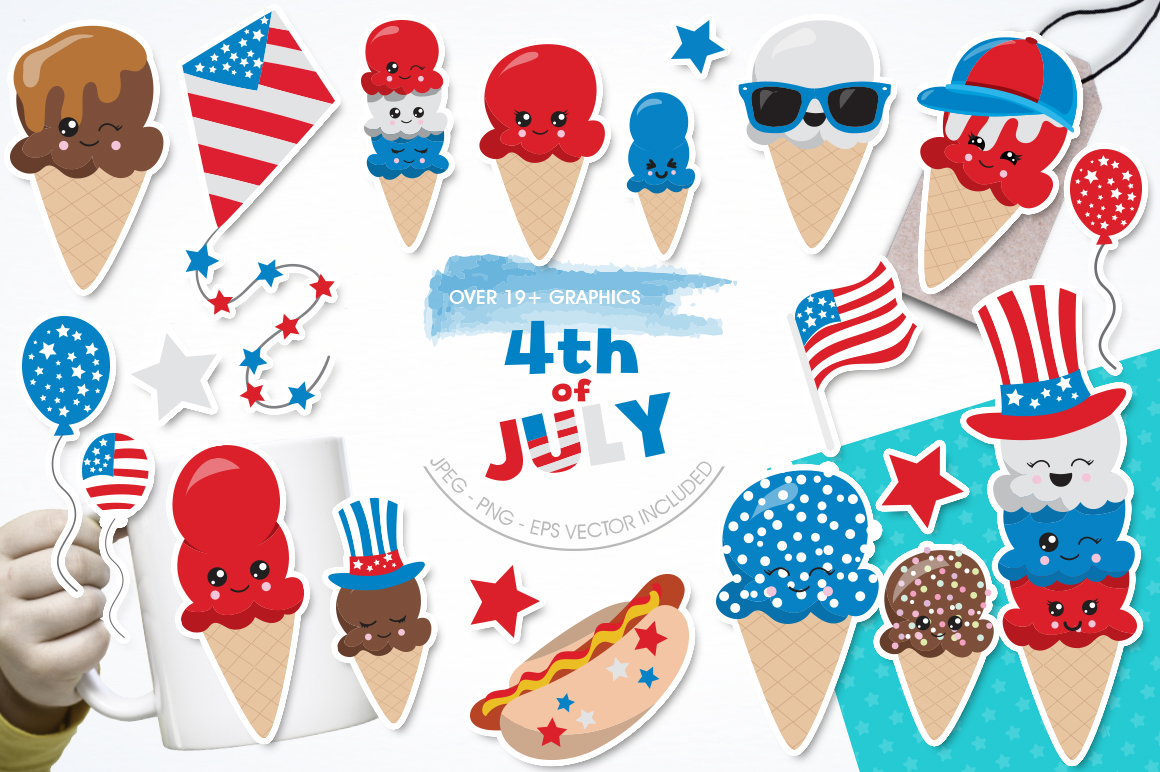 4th of July graphics and illustrations example image 1