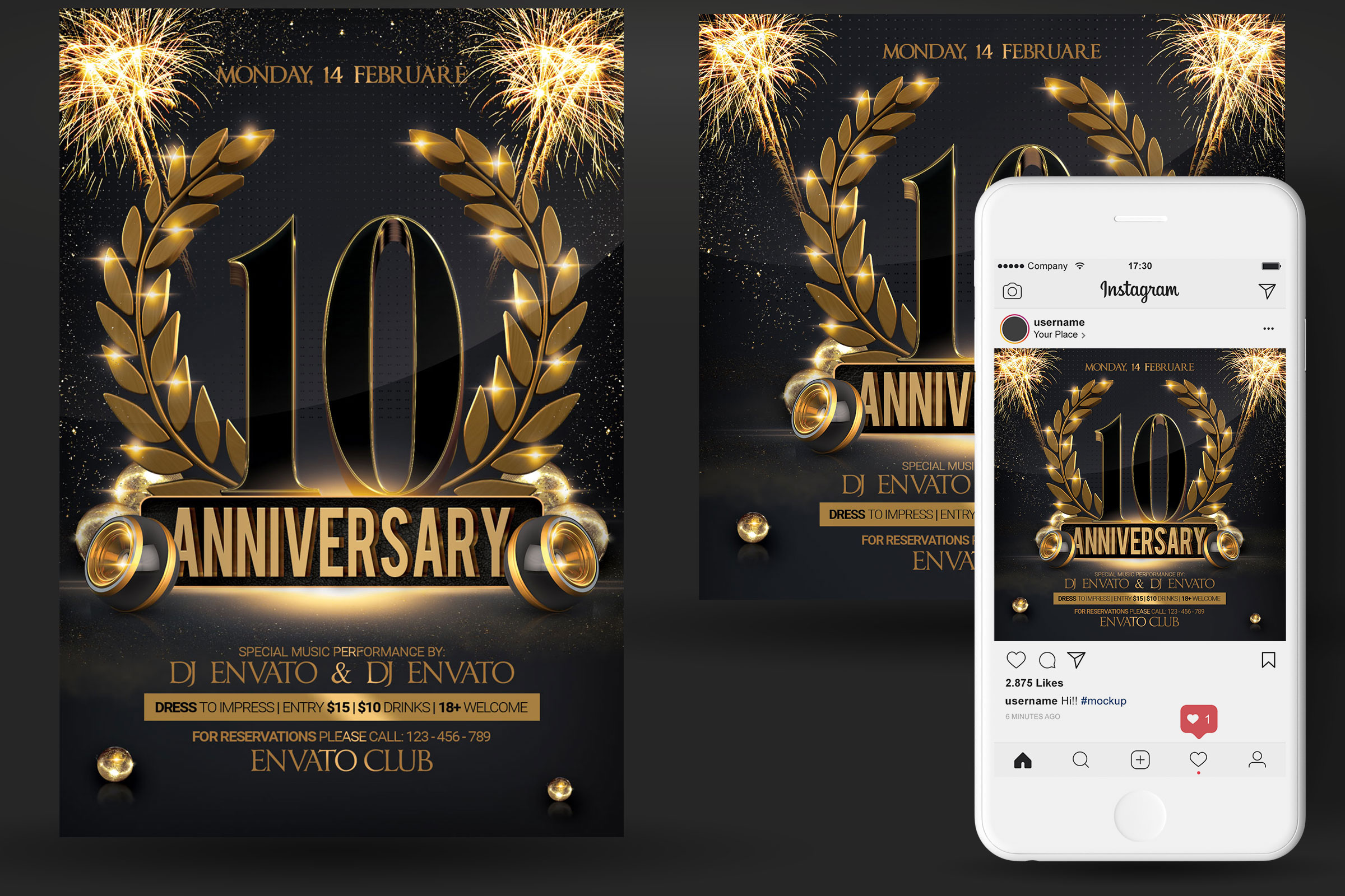 Anniversary Party Flyer example image 2
