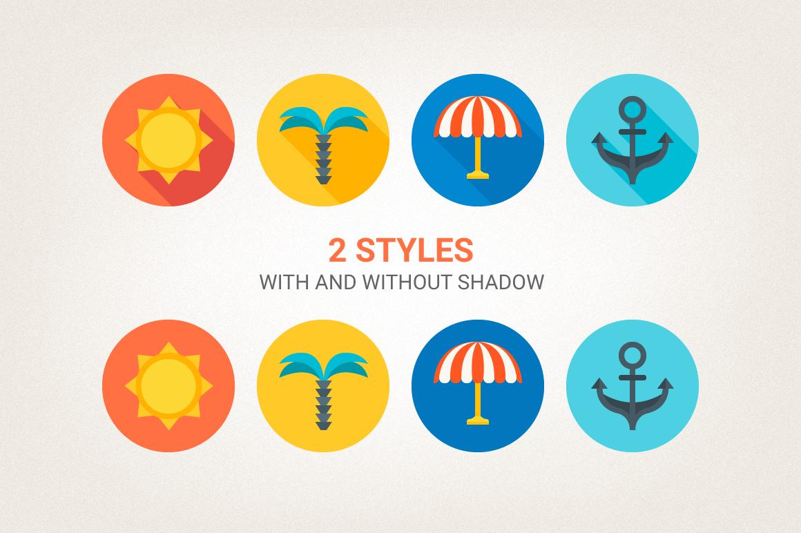 Round Travel Icons example image 3