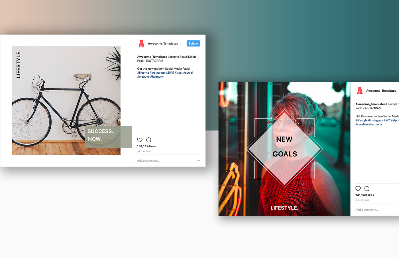 Lifestyle Instagram Template Set example image 7