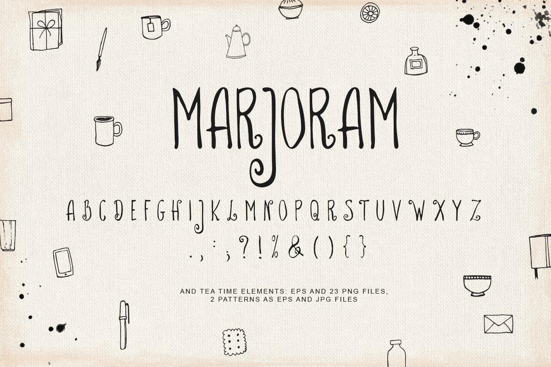 Marjoram Font example image 4