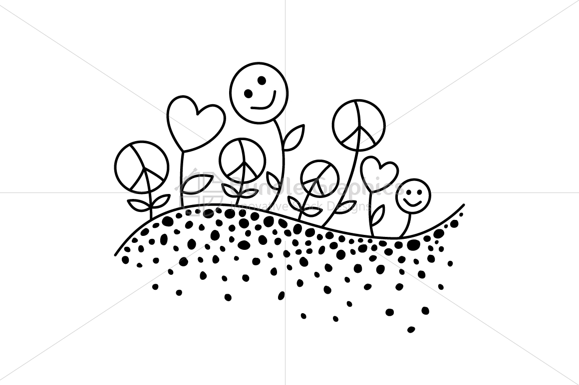 Sow Peace, Grow Love, Get Happiness - Vector Illustration example image 2
