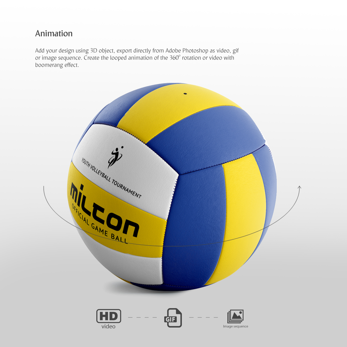 Volleyball Ball Animated Mockup example image 3