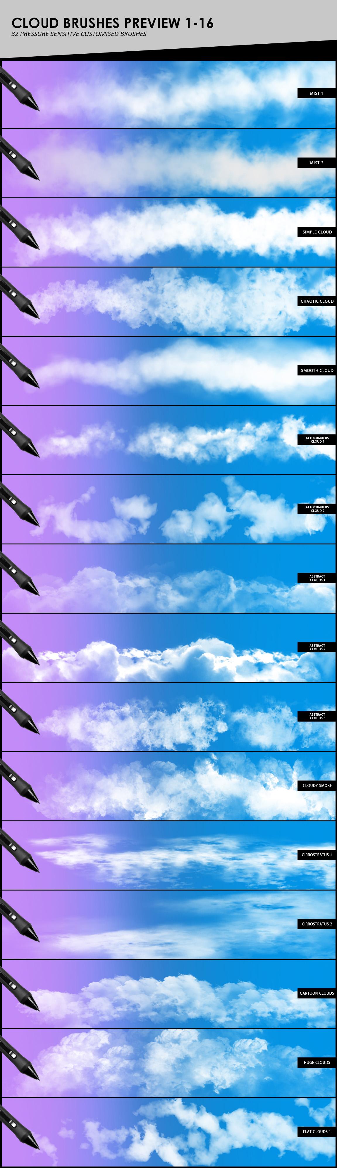 Clouds, Fog, Smoke Photoshop Brushes example image 4