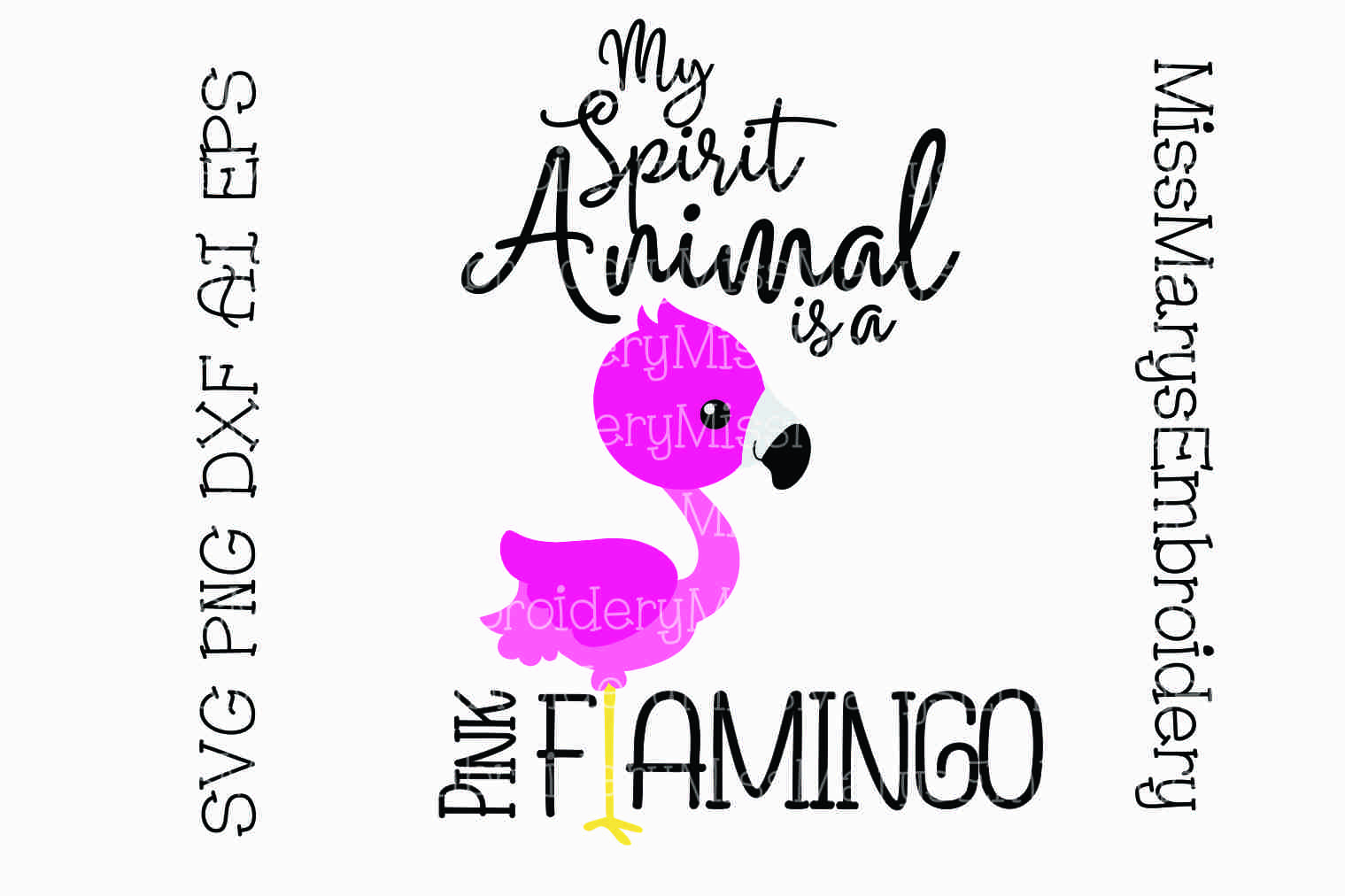 Flamingo Spirit Animal Svg Cutting File Png Dxf Ai Eps 90332 Cut Files Design Bundles